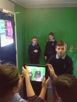 Year 7 using the GreenScreen to create Anti Bullying role play