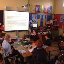 Primary 6 and 7 enjoy a visit from a Pharmacist