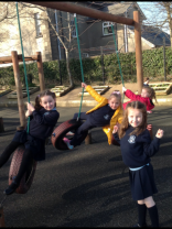 Year 2 enjoy outdoor play