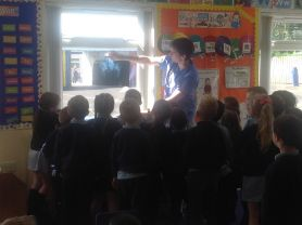 Dr Skelly's visit to Year 2