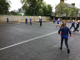 Year 5 and Year 7 enjoy PE