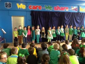 Primary 4, 5, 6 and 7 Celebrate Saint Patrick's Day