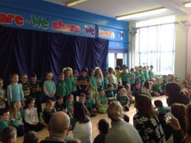 Year 1, 2 & 3 celebrate Green Day!
