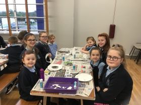 Year 7 and Year 1 Buddy Christmas Craft Creations